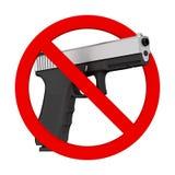 Ningún concepto de las armas Policía metálica potente o pistola militar G ilustración del vector