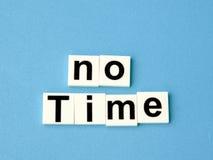 Ningún concepto del tiempo, alfabetos del bloque Fotos de archivo libres de regalías