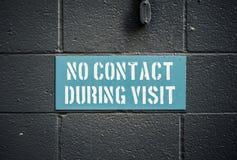 Ningún contacto durante visita foto de archivo libre de regalías