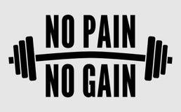 Ningún dolor ningún vector de la pesa de gimnasia del aumento libre illustration
