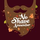 Ningún ejemplo de noviembre del afeitado Fotografía de archivo