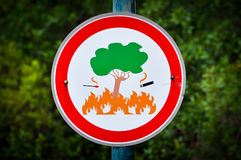 Ningún fuego Imagen de archivo