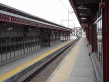 Ningún funcionamiento de los trenes Fotografía de archivo