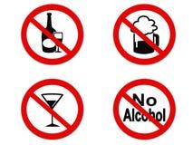 Ningún icono de la muestra del alcohol libre illustration