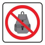 Ningún icono de los bolsos Los bolsos no permitieron la muestra libre illustration