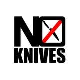 Ningún icono de los cuchillos Imágenes de archivo libres de regalías