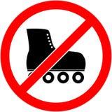 Ningún patín, rollerskate prohibió símbolo Vector Foto de archivo