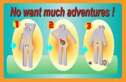 ¡Ningún quiera mucho se aventura! foto de archivo libre de regalías