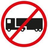 Ningún símbolo de la muestra de los camiones Imagen de archivo libre de regalías