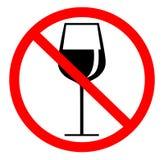 Ningún símbolo del alcohol Imágenes de archivo libres de regalías