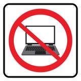 Ningún símbolo del ordenador portátil stock de ilustración