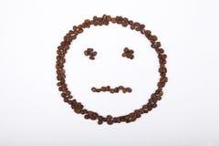 Ningún smiley de la emoción del café Imagen de archivo