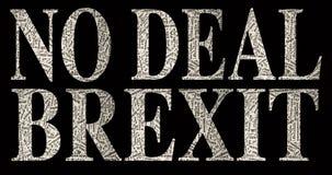 NINGÚN TRATO BREXIT compuesto con la jerga de Brexit libre illustration