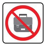 Ning?n icono de los bolsos Los bolsos no permitieron la muestra stock de ilustración
