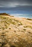 Ningaloo礁石澳大利亚海滩海岸风暴冬天 免版税库存图片