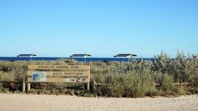 Ningaloo marine park. Sign post in Western Australia Royalty Free Stock Image