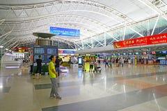 Ningbo international airport entrance. Interior view of ningbo international airport Royalty Free Stock Image