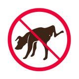 Ningún perro que hace pis -- Vector - ningún logotipo de la muestra del pis del perro Imágenes de archivo libres de regalías