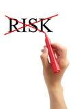 Ningún riesgo quita concepto del riesgo Imágenes de archivo libres de regalías