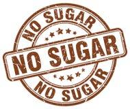 Ningún sello del grunge del marrón del azúcar Fotos de archivo