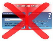Ningún de la tarjeta de crédito libre illustration