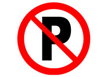 Ningún estacionamiento stock de ilustración