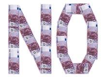 Ningún euro foto de archivo libre de regalías