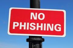 Ningún Phishing foto de archivo libre de regalías