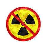 Ningún símbolo y textura nucleares Fotos de archivo libres de regalías