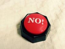 Ningún botón imagen de archivo libre de regalías