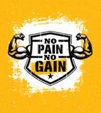Ningún dolor ningún aumento Concepto del vector de la cita de la motivación del entrenamiento del gimnasio Muestra de la insp ilustración del vector