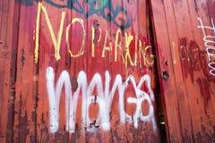 Ningún estacionamiento aquí Fotos de archivo libres de regalías