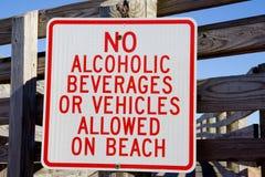 Ningún alcohol en la playa Foto de archivo libre de regalías