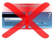 Ningún de la tarjeta de crédito Foto de archivo libre de regalías