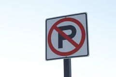Ningún estacionamiento Imágenes de archivo libres de regalías
