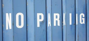 Ningún estacionamiento Imagen de archivo libre de regalías