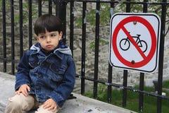 Ningún estacionamiento de la bicicleta fotografía de archivo libre de regalías