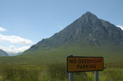 Ningún estacionamiento Escocia fotos de archivo libres de regalías