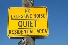 Ningún ruido excesivo Foto de archivo libre de regalías