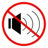 Ningún sonido Imagen de archivo libre de regalías
