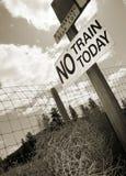 Ningún tren hoy Imagen de archivo libre de regalías
