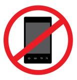 NINGÚN vector elegante androide del teléfono Fotografía de archivo libre de regalías