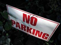 Ningún estacionamiento Foto de archivo libre de regalías