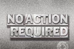 Ninguna acción requerida en metálico Imagen de archivo