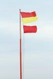 Ninguna bandera de playa de la natación Imágenes de archivo libres de regalías