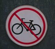 Ninguna bicicleta firma en forma redonda fotografía de archivo libre de regalías