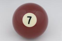 Ninguna bola de piscina 7 fotografía de archivo libre de regalías