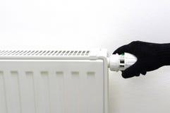 Ninguna calefacción central en casa fría Fotografía de archivo