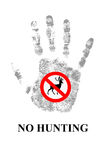 Ninguna caza los ciervos Imágenes de archivo libres de regalías