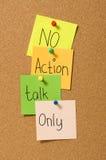 Ninguna charla de la acción solamente Foto de archivo libre de regalías